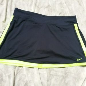 Nike Border Tennis Skort Navy Neon Yellow